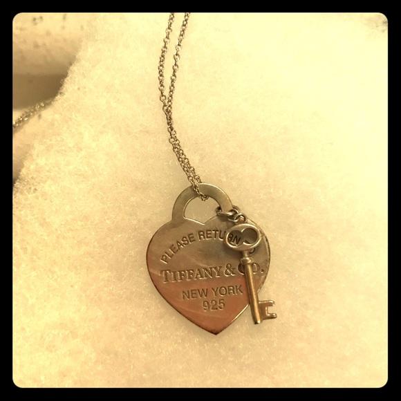 55b9739cc8f8 Tiffany   Co. Jewelry - Tiffany s heart tag with key pendant necklace